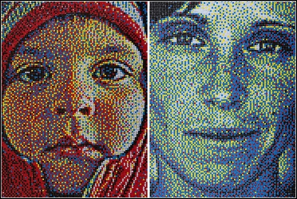 Портреты-мозаика от Эрика Дага (Eric Daigh)