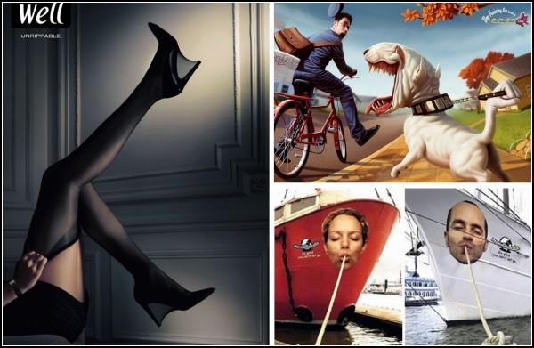 Подборка креативных рекламных плакатов
