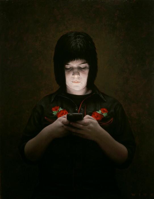 Картины об одиночестве и гаджетах. Творчество художника Дэна Витца