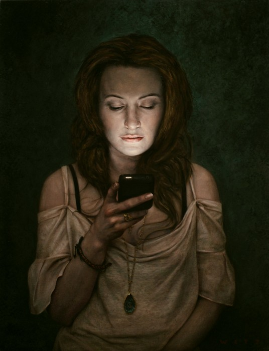 Я всегда с собой беру мобильный телефон. Реалистичная живопись Дэна Витца (Dan Witz)