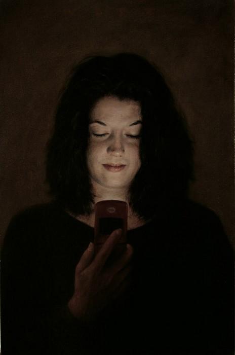 Люди с мобильниками. Реалистичная живопись Дэна Витца (Dan Witz)
