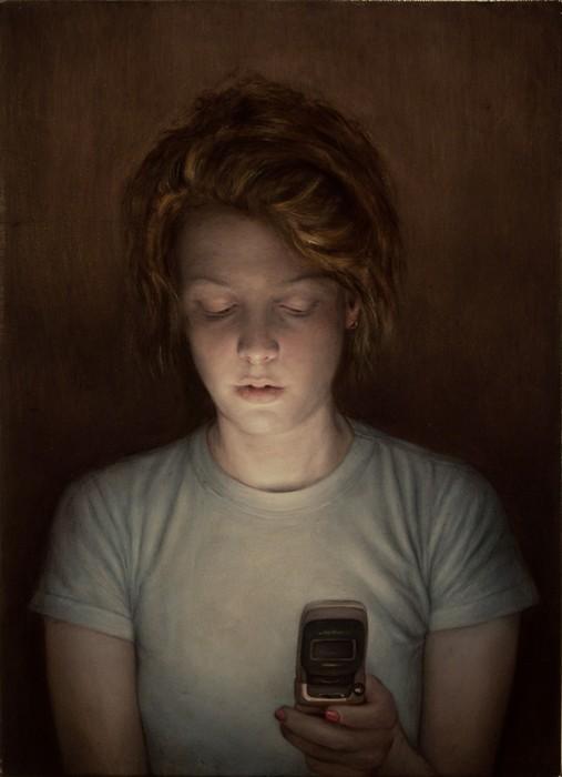Телефон - друг человека. Реалистичная живопись Дэна Витца (Dan Witz)