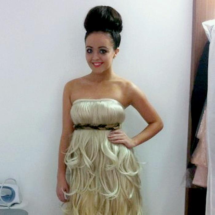 Платье из волос картинки
