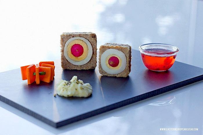 Русские роллы и украинские суши в арт-проекте Eastern European Sushi