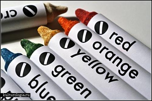 Edible Crayons. Карандаши из овощей и фруктов от Luxirare