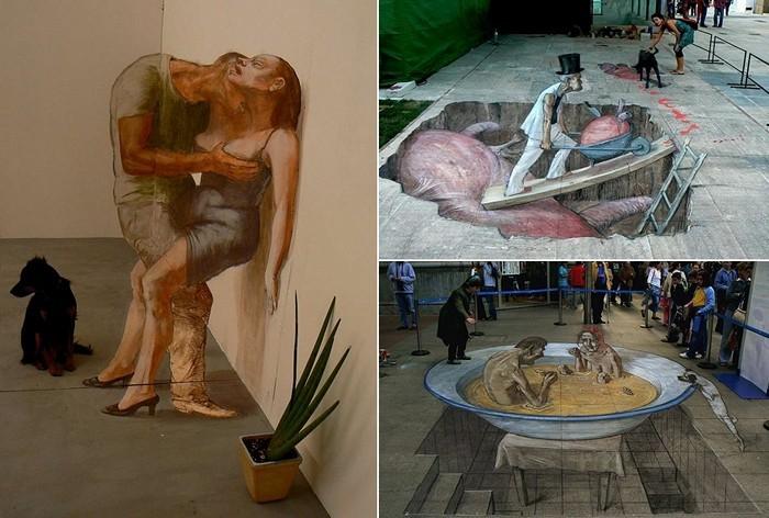 Трехмерные городские иллюзии  Eduardo Rolero