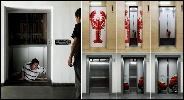Обзор креативной рекламы в лифтах