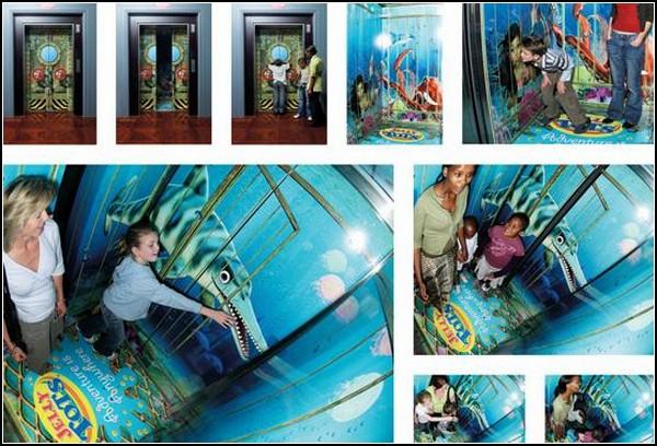 Лифт в подводное царство, реклама Jelly Tots