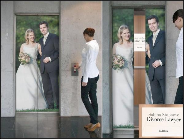 Любопытная реклама адвоката по разводам