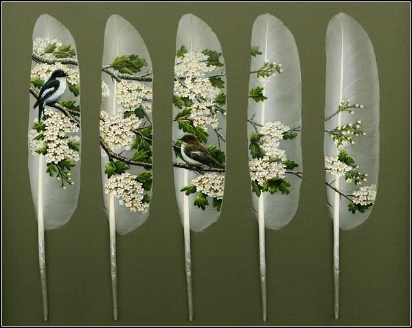 Широкоформатная *лебединая живопись* от Яна Дэйви (Ian Davie)