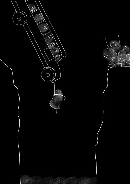 Fingerprints, серия рисунков из отпечатков пальцев