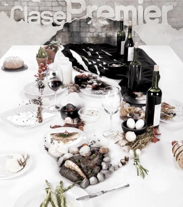 Сервировка стола в виде портрета Рене Редзепи. Удивительный арт-проект для журнала Clase Premier