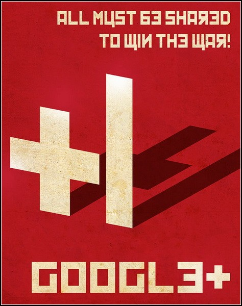 Постер о соцсети Google+