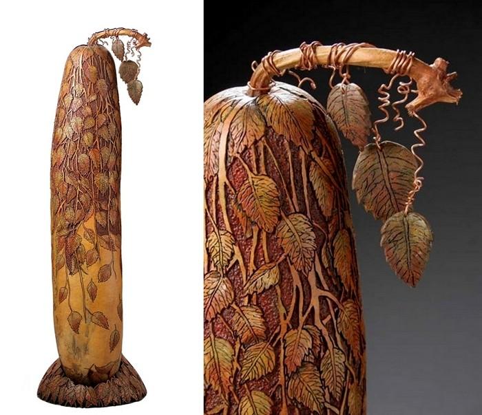 Gourd Carving. Невероятная резьба по тыкве в исполнении Мэрилин Сандерлэнд (Marilyn Sunderland)
