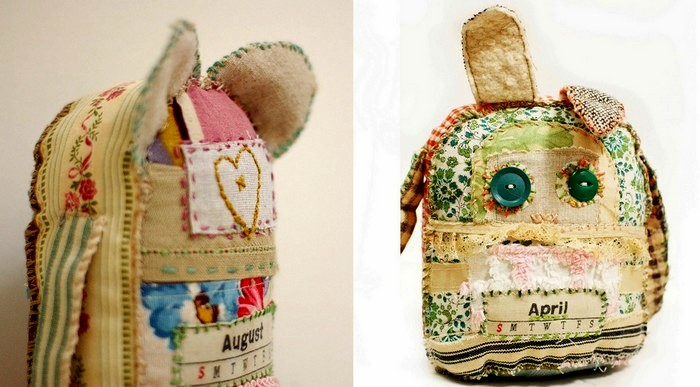 Примитивные куклы из кухонных полотенец от Grrl + Dog