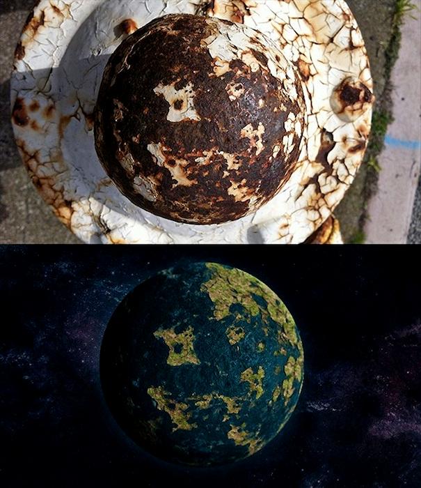 Неизвестные планеты на улицах города. Арт-проект художника Gumballbrain