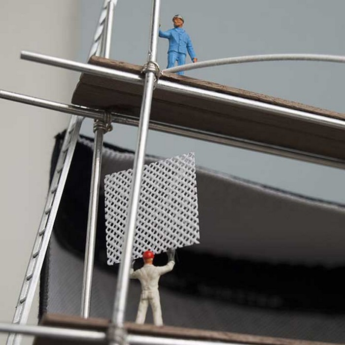 Арт-шляпа Construction Overhead от Sorensen-Grundy Milliners