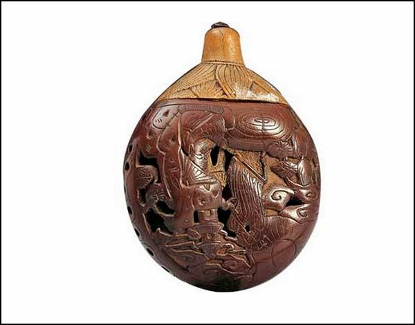 Скульптуры из фруктовых косточек, искусство хайдао