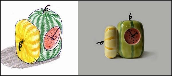 Диковинный фруктовый будильник из коллекции Fruits