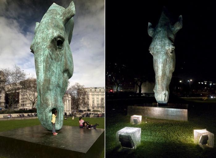 Гигантские лошадиные головы из бронзы. Самые известные скульптуры  Ника Фиддиана-Грина