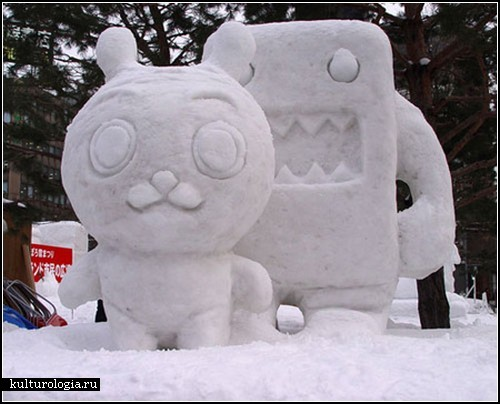 Креативные скульптуры изо льда и снега