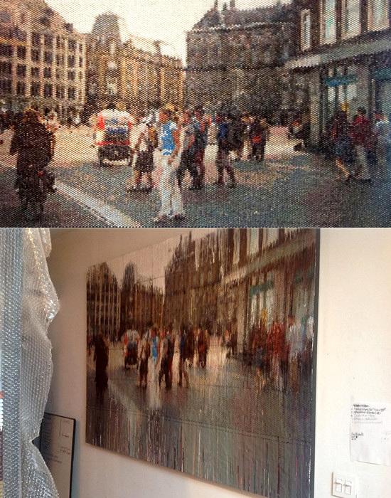 Injections от Bradley Hart: картины из пузырьков, наполненных краской.