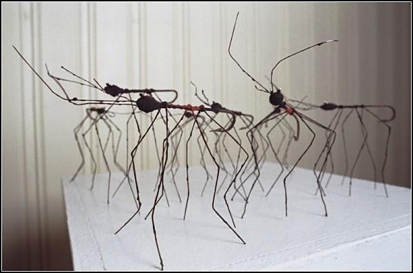 Скульптуры из волокна и ниток