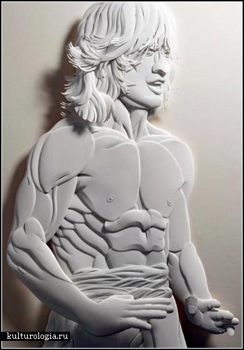 Бумажные скульптуры от Джеффа Нишинака (Jeff Nishinaka)