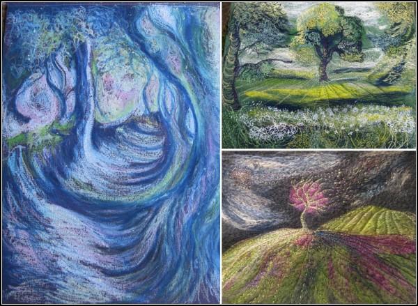 Картины из войлока и ниток. Творчество от Kayla Coo