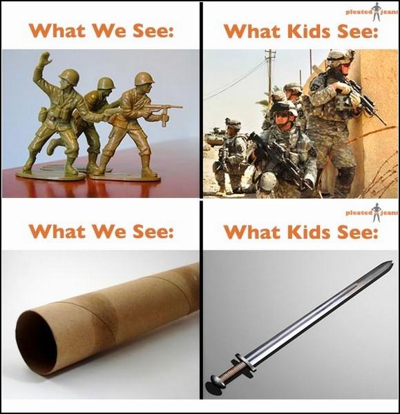 Фотопроект Джеффа Висаски (Jeff Wysaski) What We See vs. What Kids See