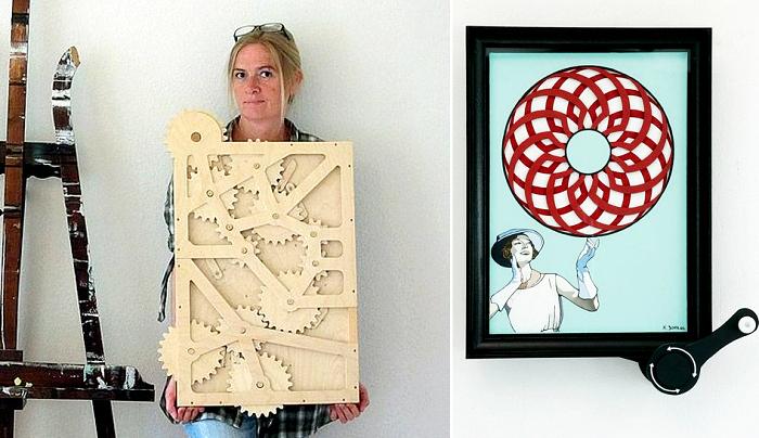 Подвижные картины. Кинетическое искусство Кристин Сур (Kristine Suhr)