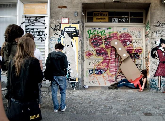 Уличный арт-проект от Maria Lujan и Wolfgang Krug