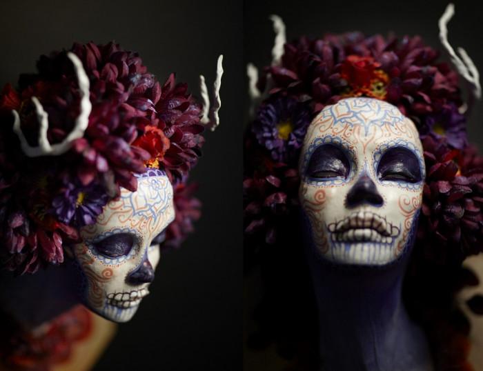 Muertitas Masks. Настенные маски от художницы Krisztianna