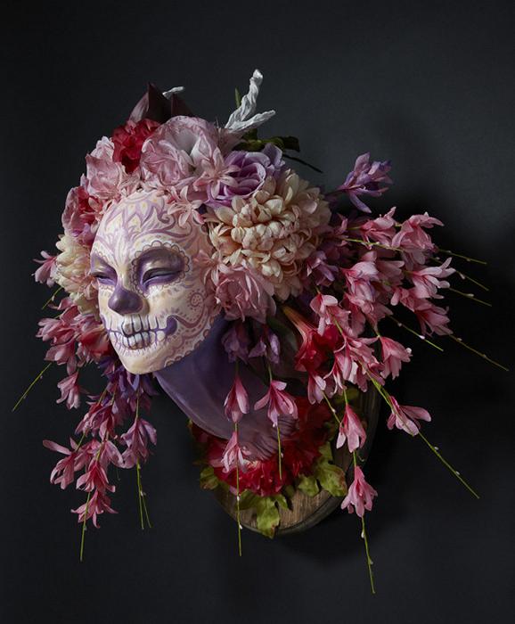 Весенняя маска-скульптура Spring Muertita