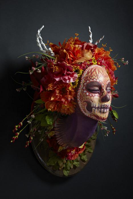 Летняя маска-скульптура Summer Muertita