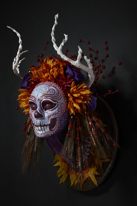 Осенняя маска-скульптура Autumn Muertita