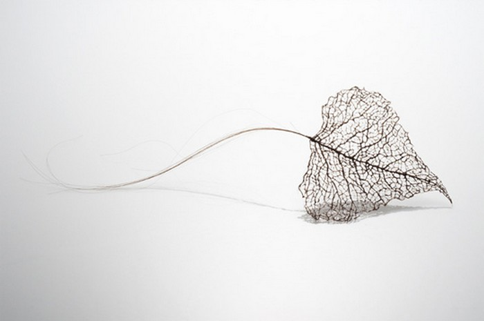 Листья, сплетенные из человеческих волос