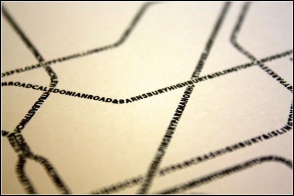 Лондонское метро в типографике. Проект Typographic Transit Maps