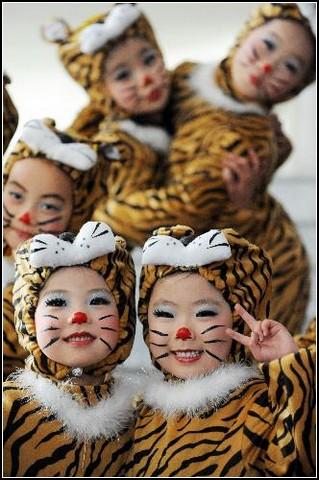 Традиционные новогодние танцы в Китае