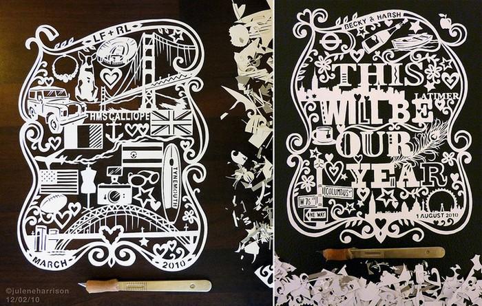 Искусство резать бумагу. Papercut art от Джулен Харрисон (Julene Harrison)
