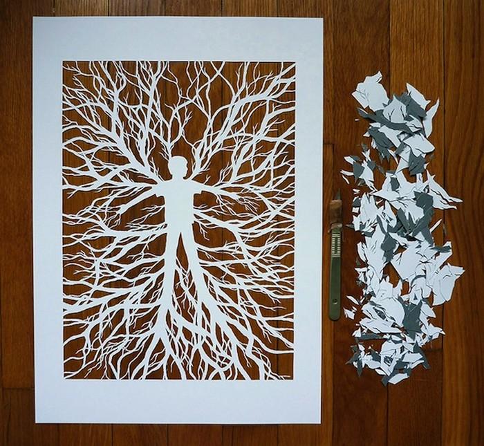 Художница Джулен Харрисон (Julene Harrison) - пластический хирург для листов бумаги