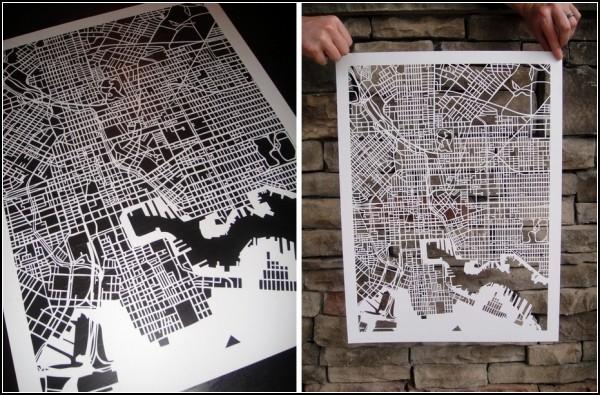 Балтимор. Ажурная карта от Карен О`Лири (Karen O'Leary)