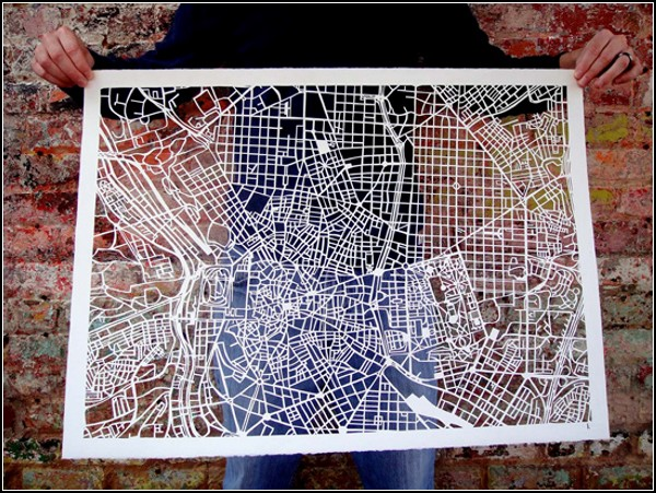 Мадрид. Ажурная карта от Карен О`Лири (Karen O'Leary)