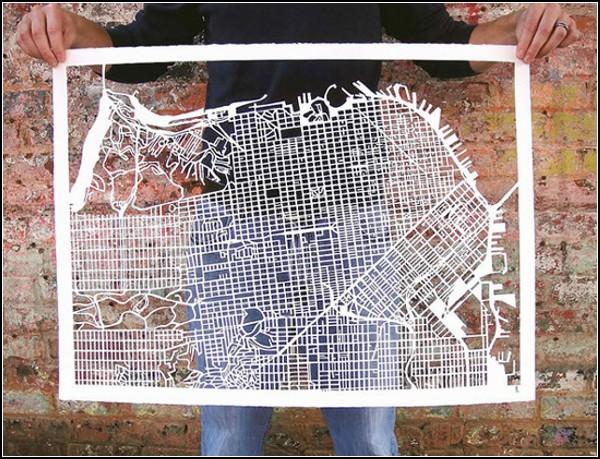 Сан-Франциско. Ажурная карта от Карен О`Лири (Karen O'Leary)