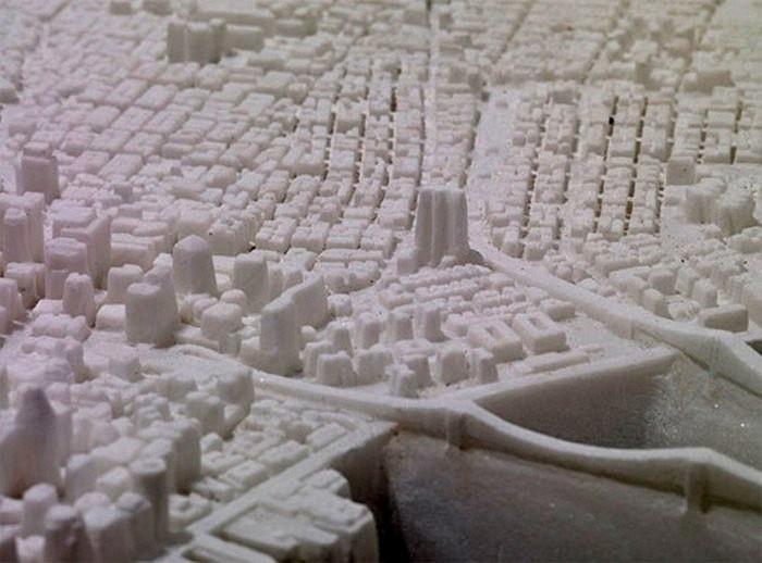 Little Manhattan, мраморная карта Манхэттена в миниатюре