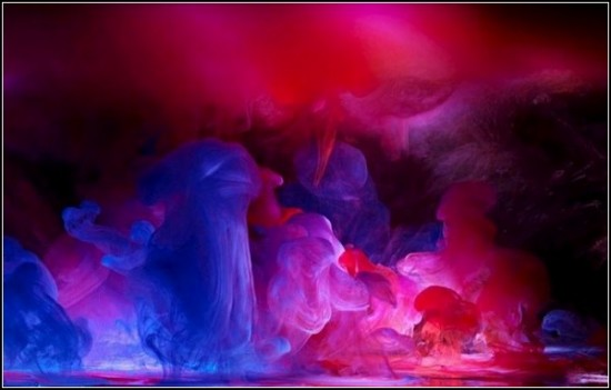 Вода и капля краски. Серия фотографий Aqueous