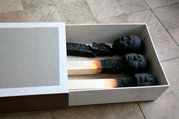 Люди-спички. Арт-проект Выгорание (Burntout) от Wolfgang Stiller