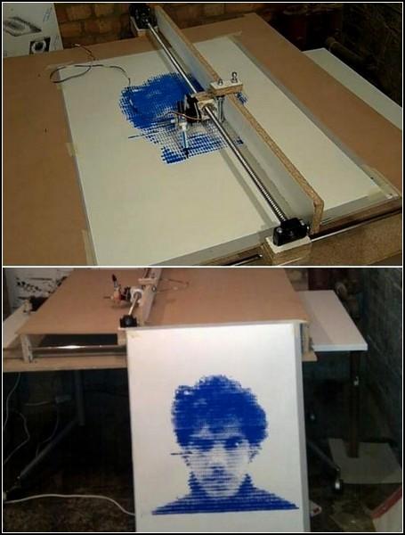Портрет из точек при помощи Time Print Machine