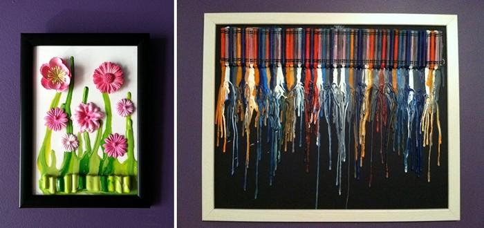 Капельная радуга из разноцветных мелков. Картины Джессики Кербави (Jessica Kerbawy)