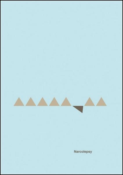 Нарколепсия. Постер из серии Mental disorder posters